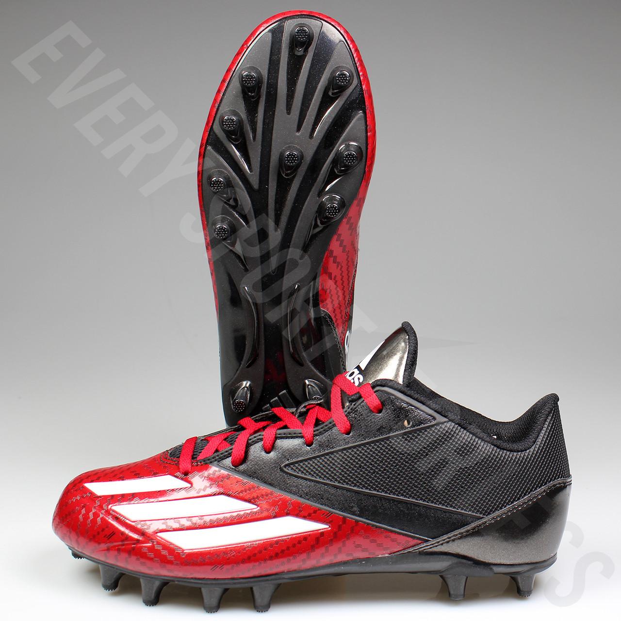 Adidas Adizero 5 Star Low Football Lacrosse Cleats D70176 Black, Red