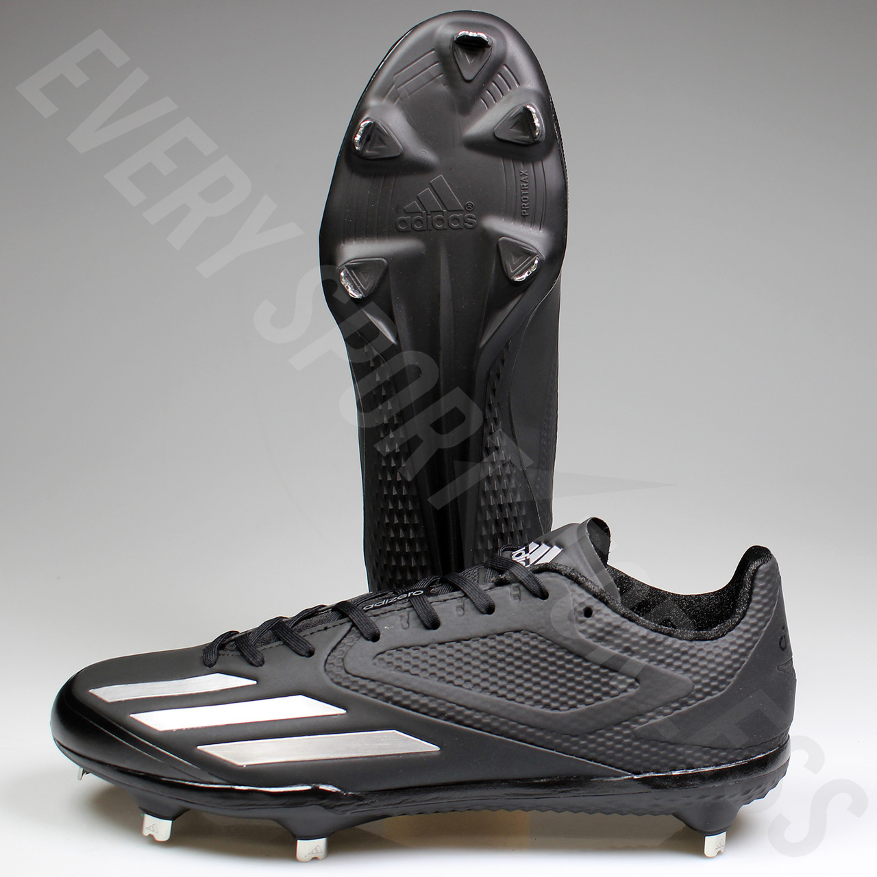 size 40 3e683 716ec ... Adidas Adizero Afterburner 3 Mens Baseball Cleats Q16563 - Black,  Silver ...