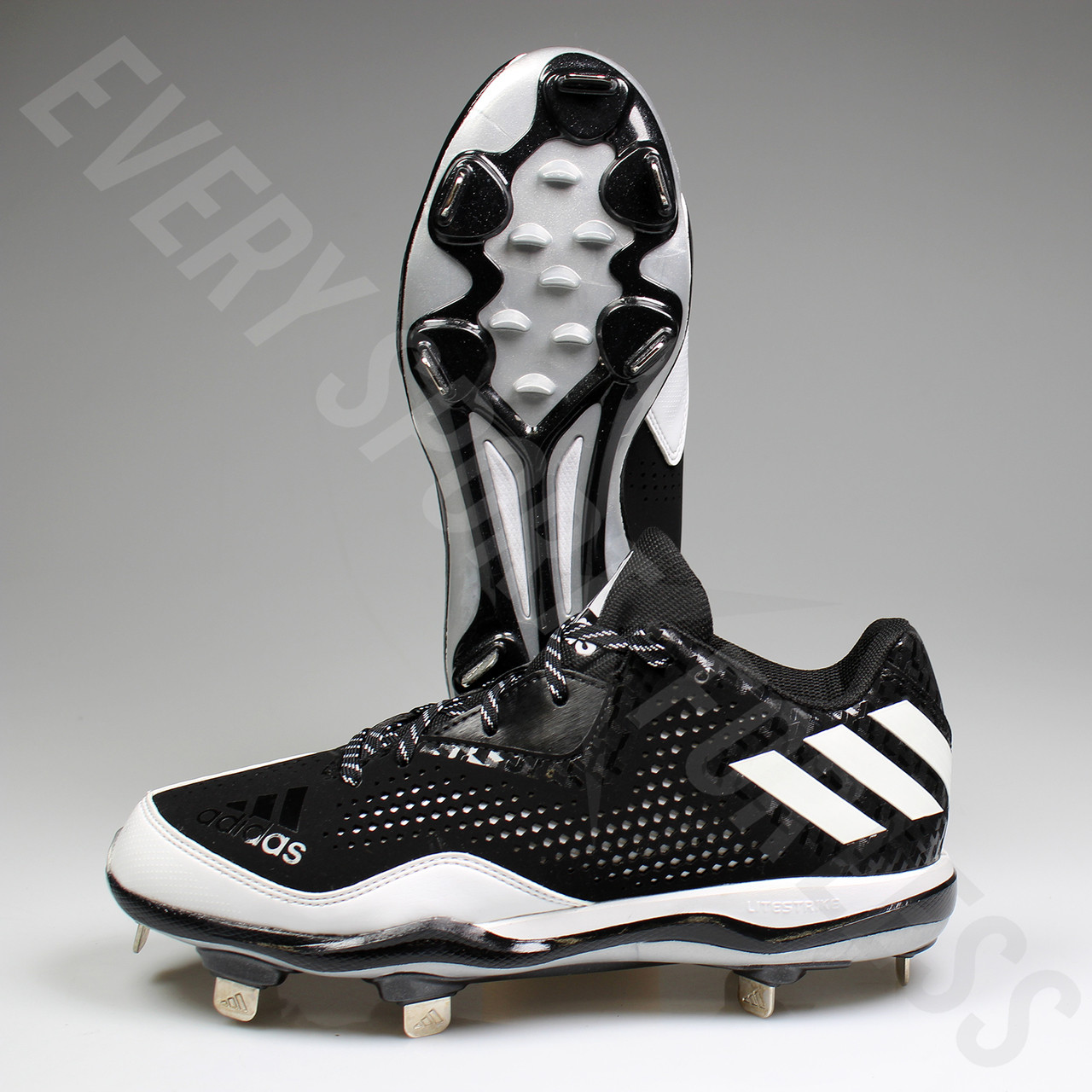 low priced 469e4 9018c ... White · Adidas Power Alley 4 Low Men s Metal Baseball Cleats Q16481 -  Black, ...