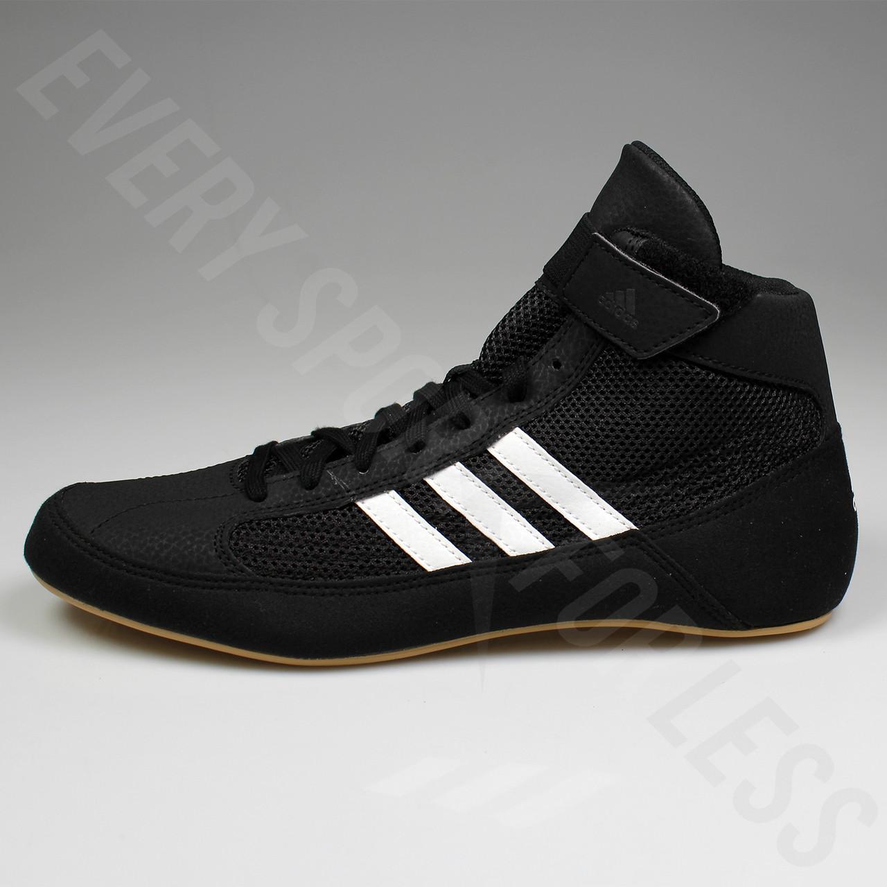 2c7aa9baf21 ... Adidas HVC 2 Mens Wrestling Shoes AQ3325 - Black   White ...