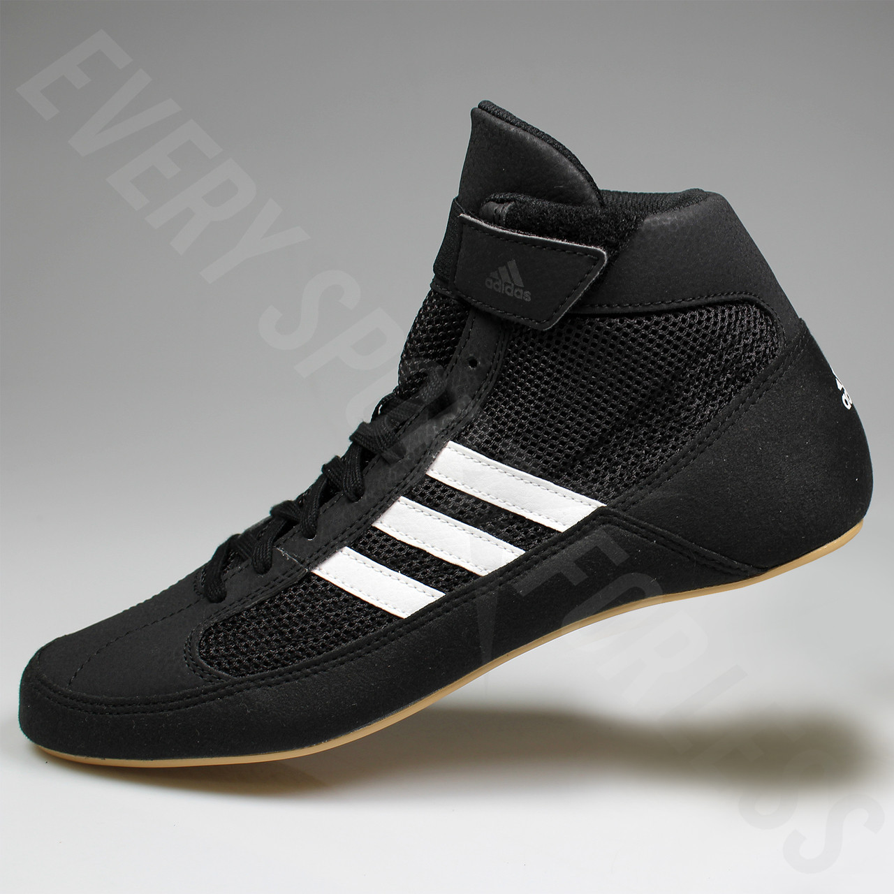 7c4fdd09ae745 Adidas HVC 2 Adult Wrestling Shoes AQ3325 - Black, White