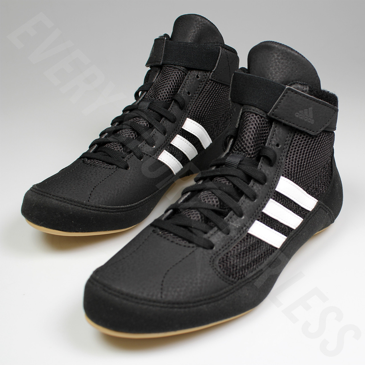 reputable site 9fde6 ccead ... Adidas HVC 2 Mens Wrestling Shoes AQ3325 - Black   White ...