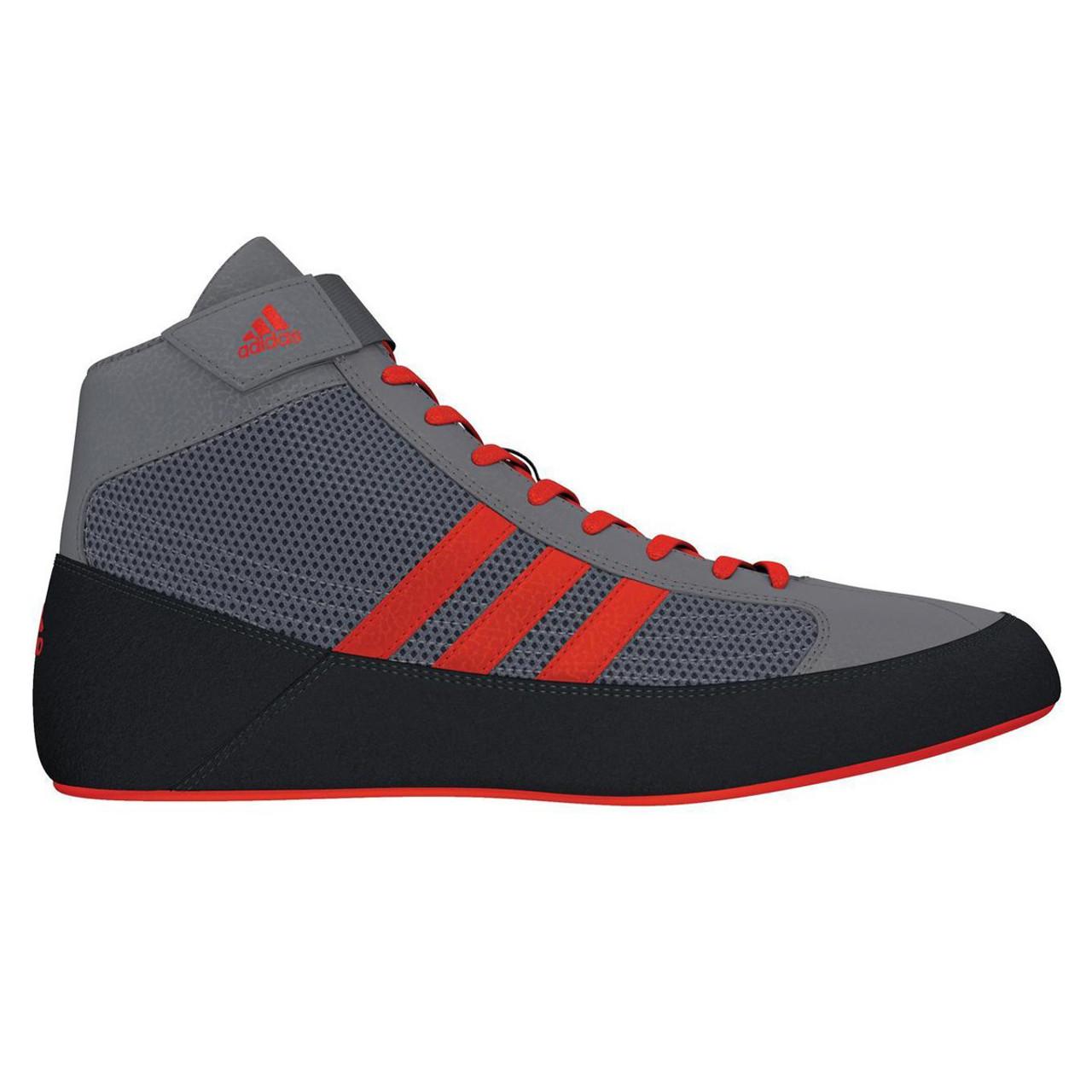reputable site 549a4 6f6b1 Adidas HVC 2 Mens Wrestling Shoes CG3802 - Grey   Solar Red ...