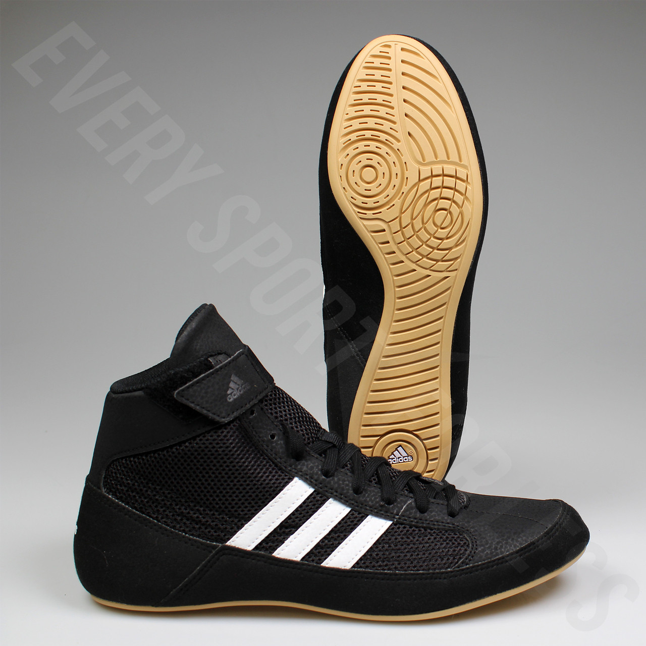 f0a989cfd2169 Adidas HVC 2 Youth Wrestling Shoes AQ3327 - Black, White