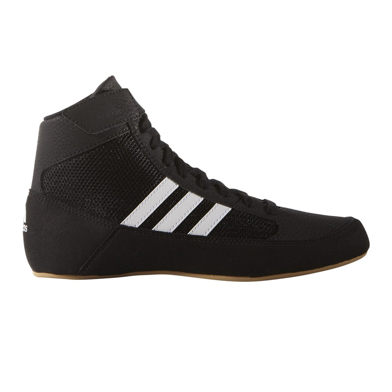 ee4406ba49fc Adidas HVC 2 Youth Wrestling Shoes AQ3327 - Black   White ...