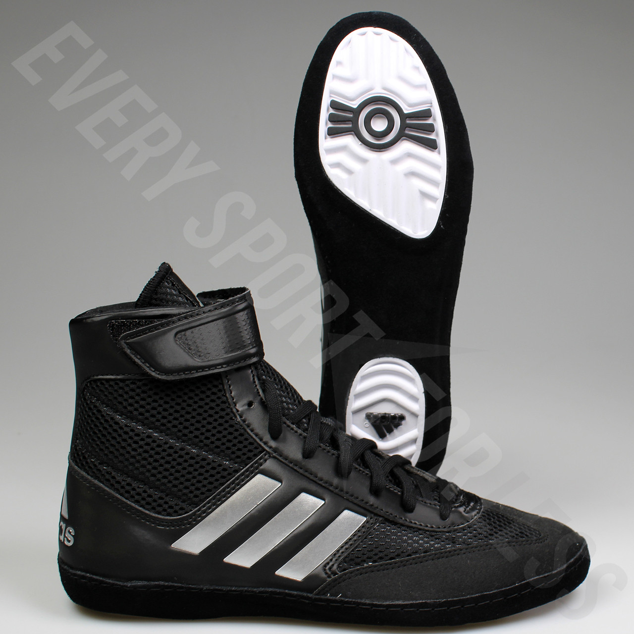 buy popular 0f9da 36872 ... Adidas Combat Speed 5 Mens Wrestling Shoes BA8007 - Black   Silver ...