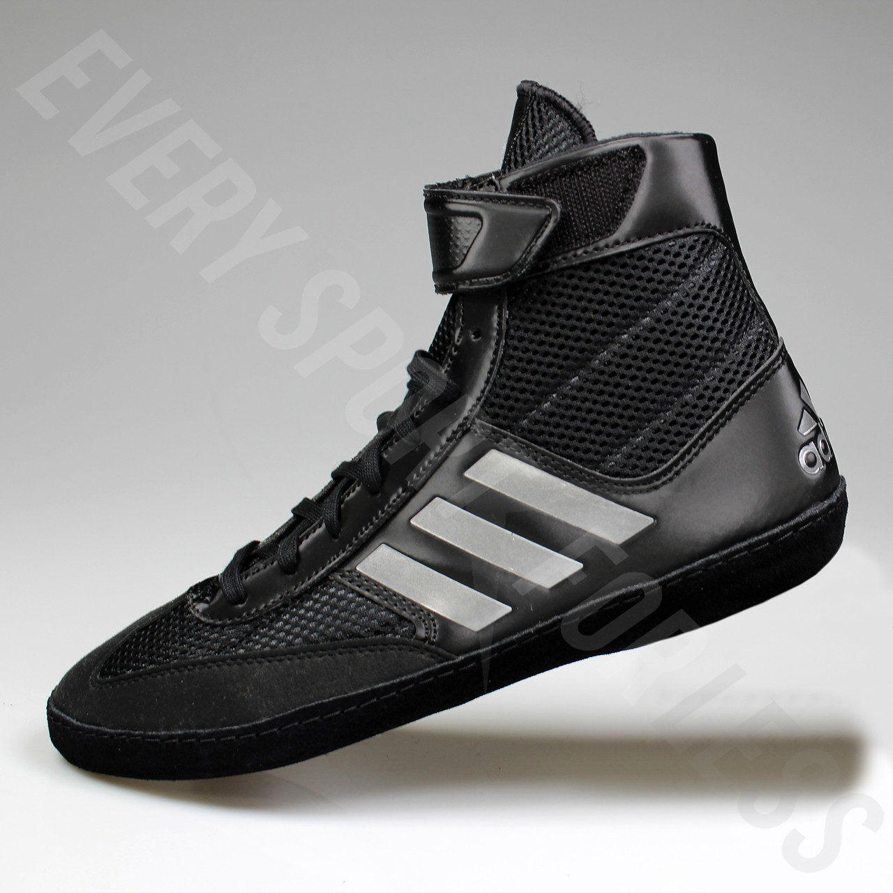 f7818372b95c75 ... Adidas Combat Speed 5 Mens Wrestling Shoes BA8007 - Black   Silver ...