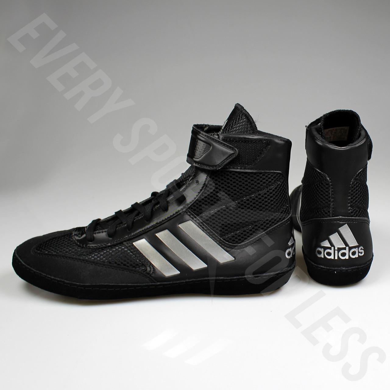 f030affd528 ... Adidas Combat Speed 5 Mens Wrestling Shoes BA8007 - Black   Silver