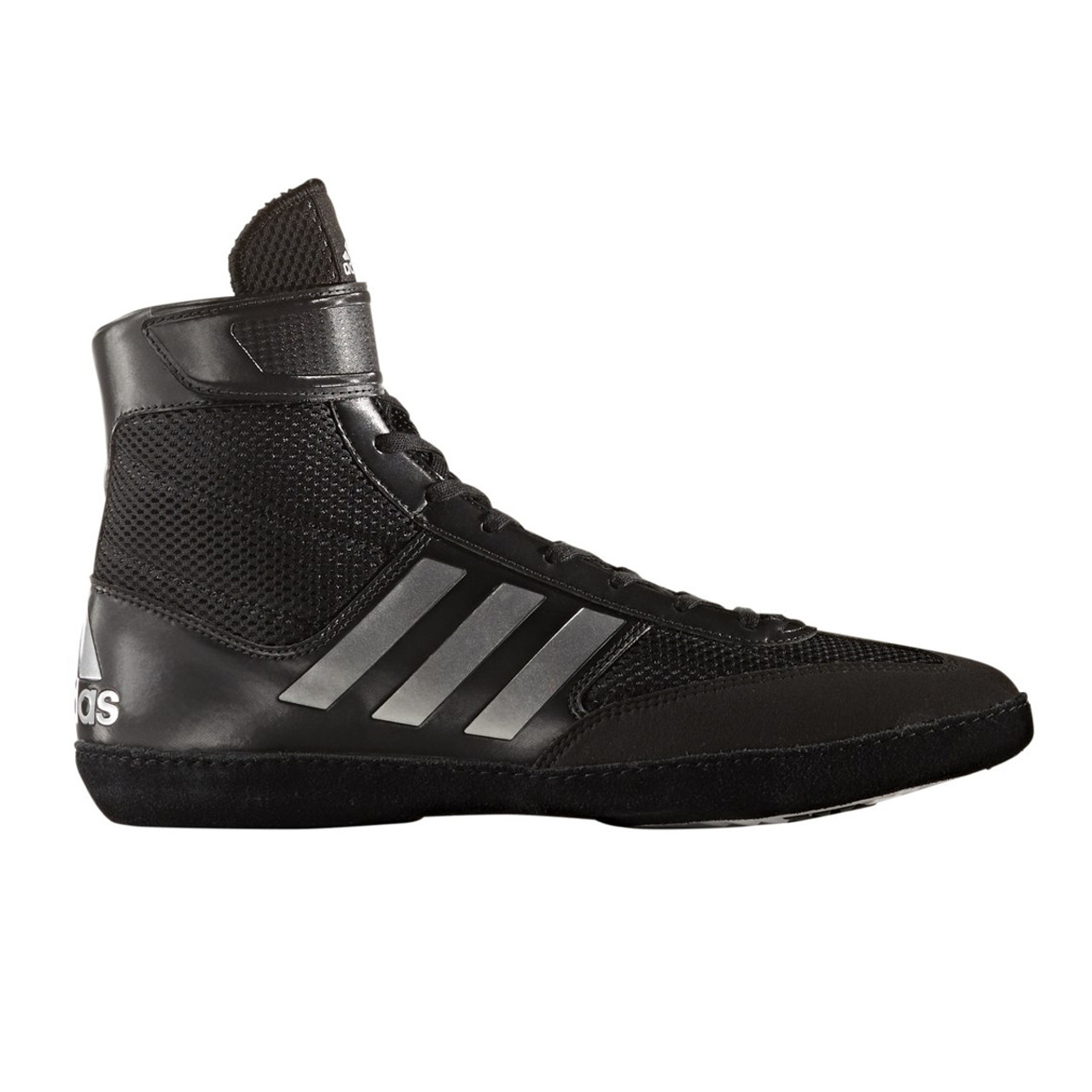 5a521f5c24f Adidas Combat Speed 5 Mens Wrestling Shoes BA8007 - Black   Silver ...