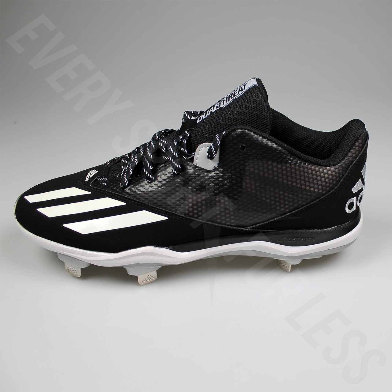 hot sale online 40a60 7eb14 ... Adidas Dual Threat 2 Mens Baseball Cleats F37751 - Black, White, Silver  ...