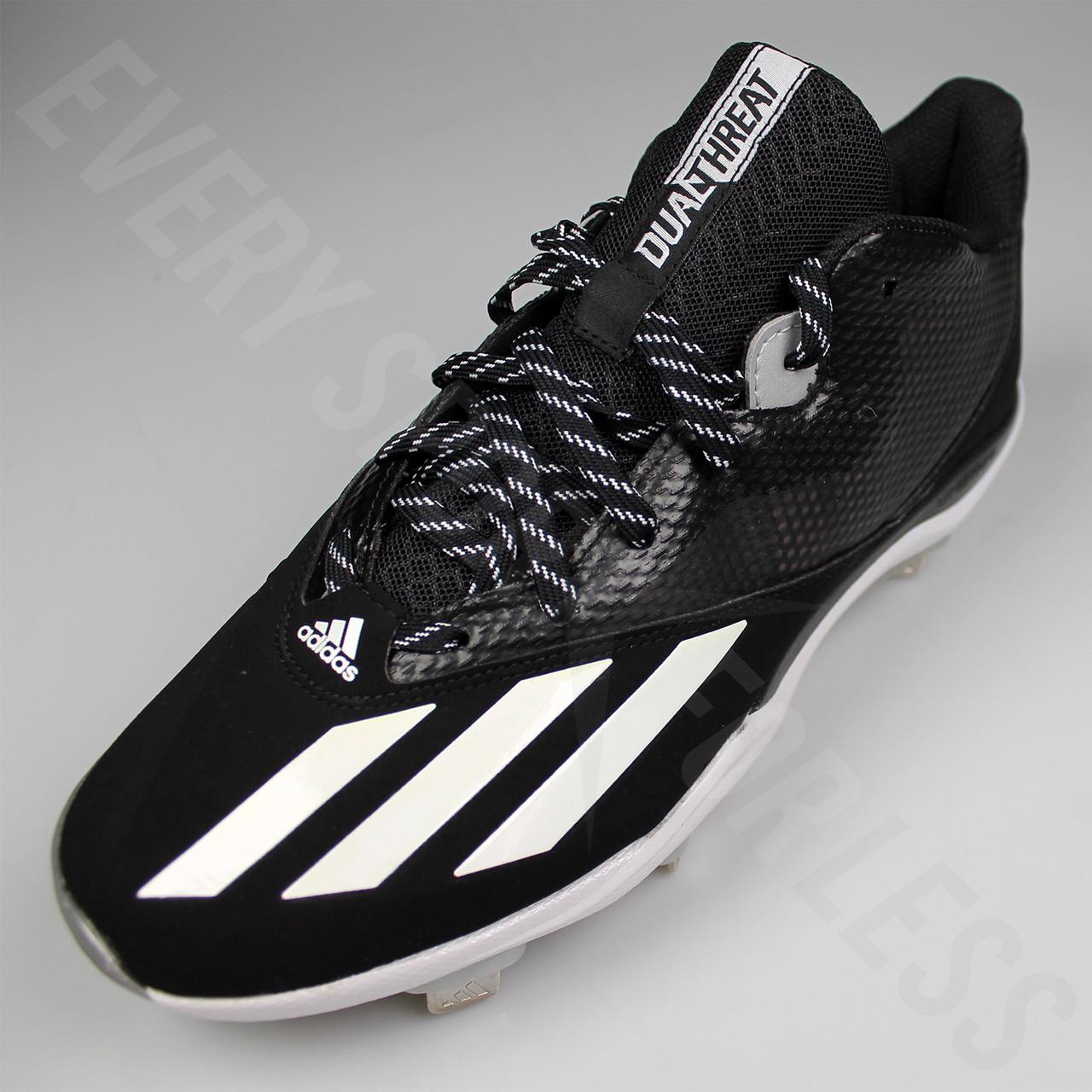 hot sale online 7b62d 79378 ... Adidas Dual Threat 2 Mens Baseball Cleats F37751 - Black, White, Silver  ...