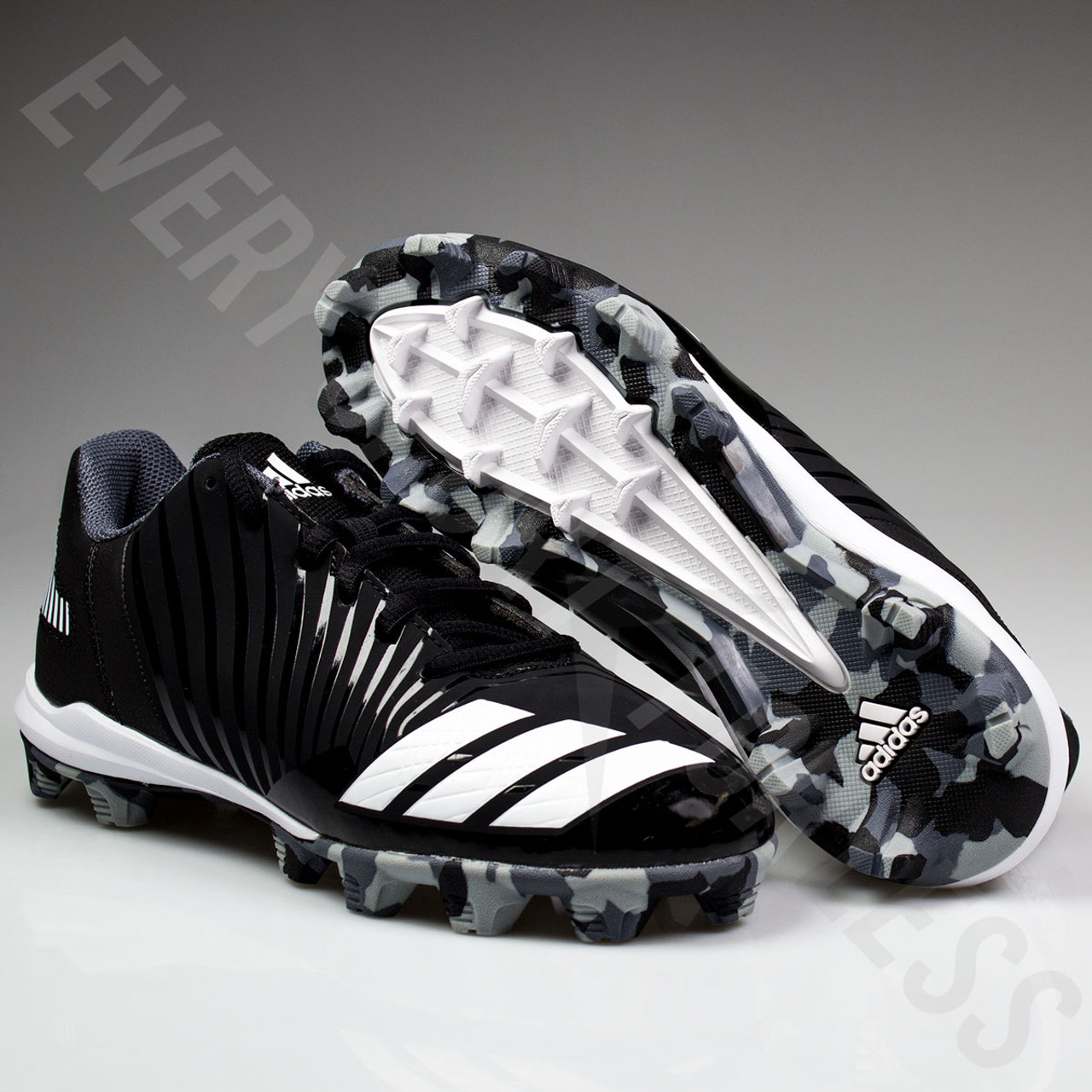 515cbdc4c ... Adidas Icon MD Youth Baseball Cleats B39227 - Black
