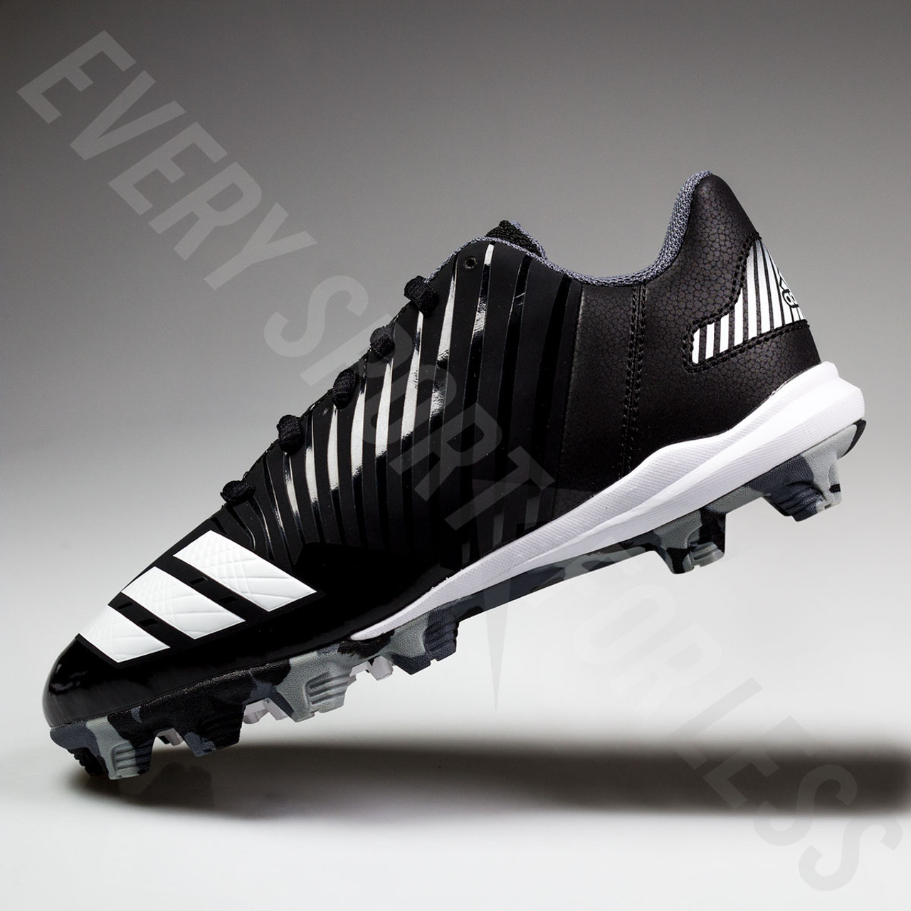 cbb34c6eb Adidas Icon MD Youth Baseball Cleats B39227 NEW White Black