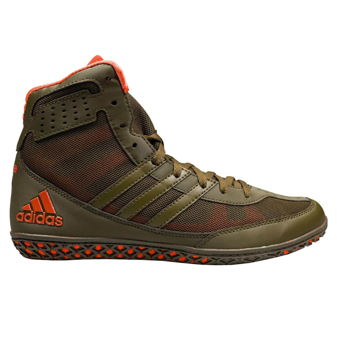 6f129849 Adidas Mat Wizard 3 Senior Wrestling Shoes BB3297 - Olive, Orange ...