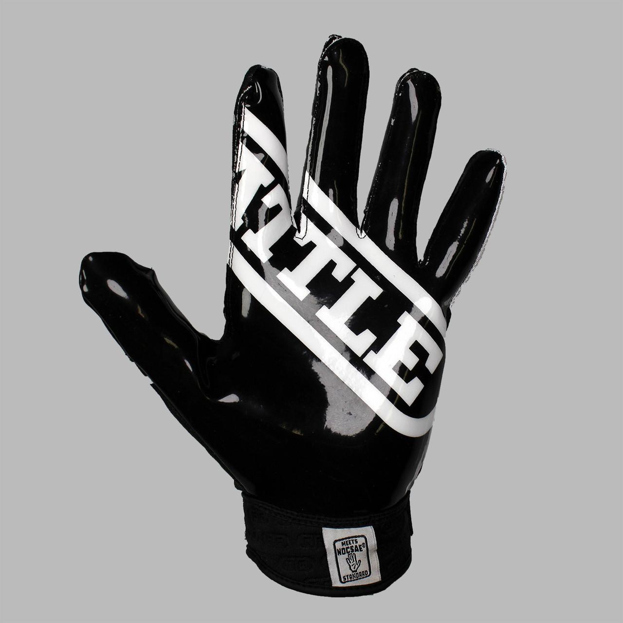 Blue//White NEW Battle Ultra Stick Football Senior Receiver Gloves