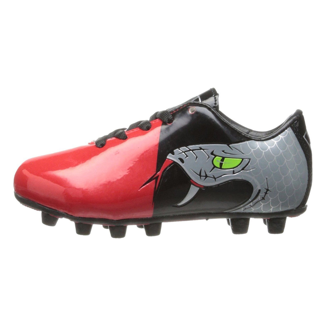 6047c702f Vizari Snake Youth Soccer Cleats Black Red Best Price