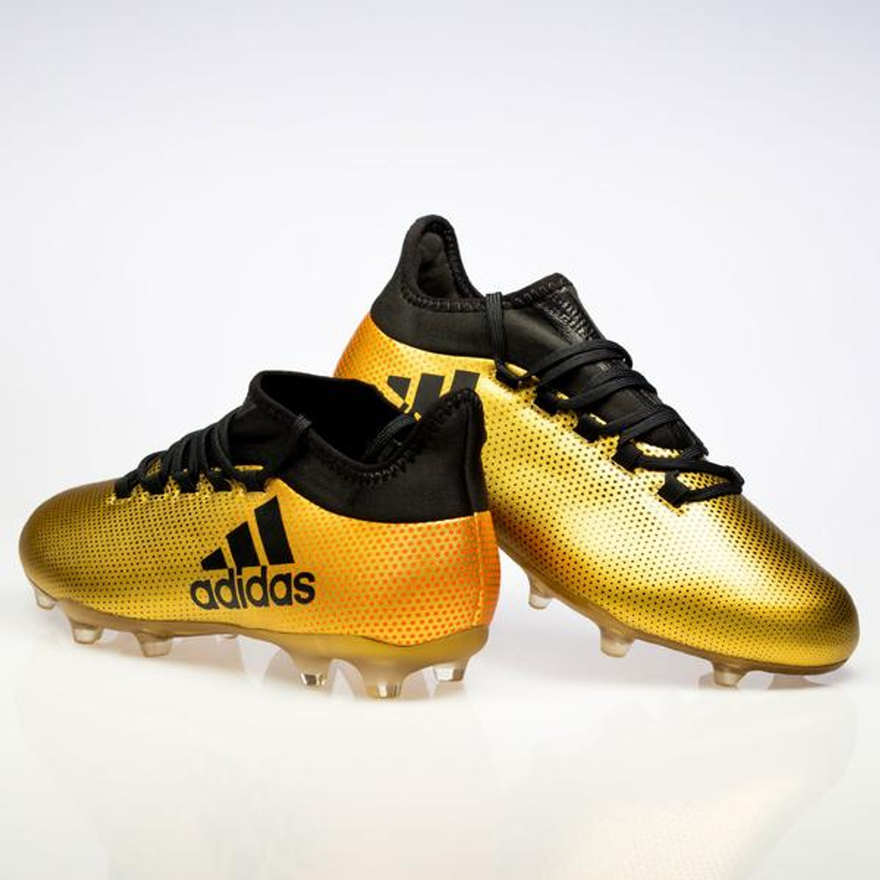 sale retailer adf44 9180c Adidas X 17.2 FG Men's Soccer Cleats CP9186 - Gold, Black, Red