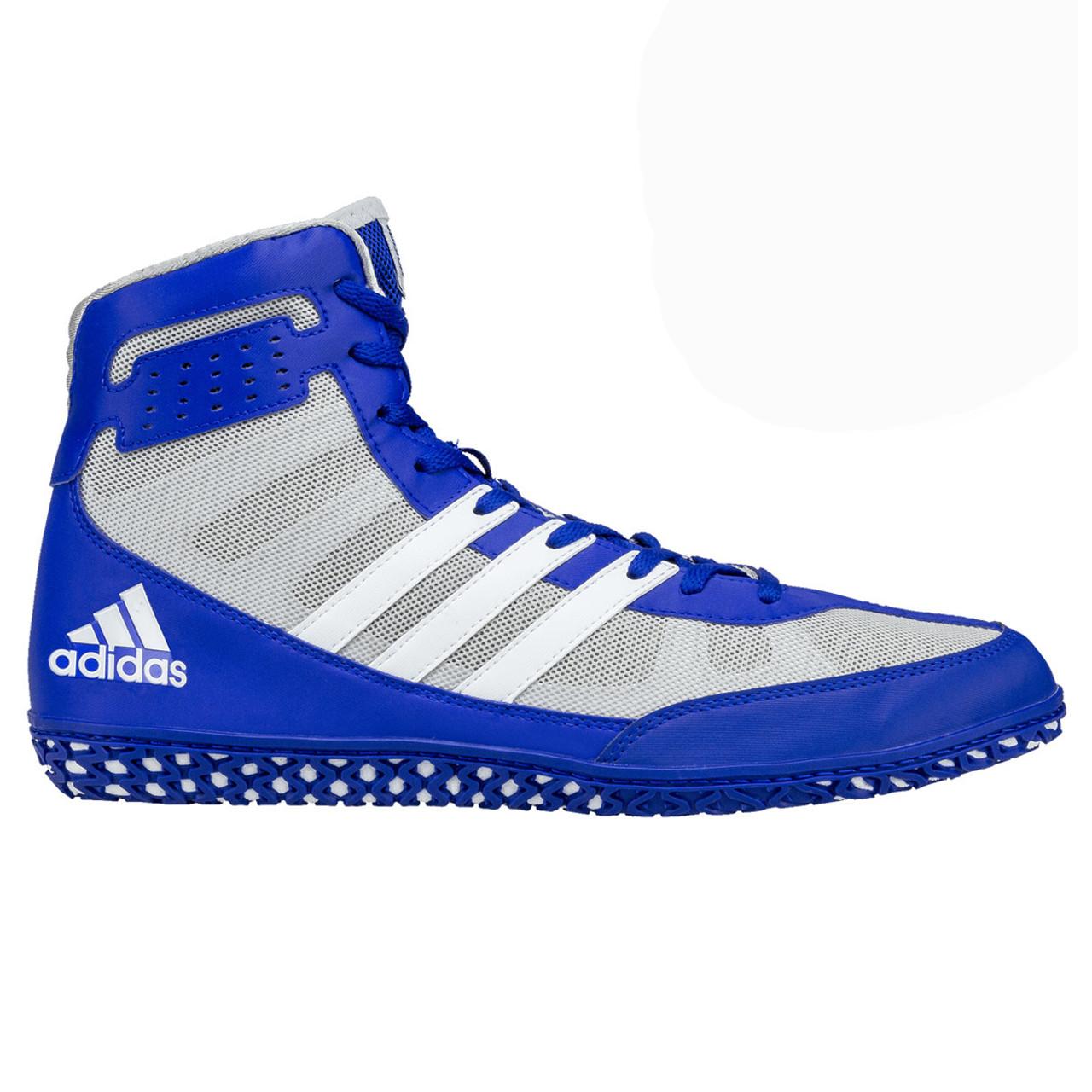 Adidas Mat Wizard 3 Adult Wrestling Shoes BB3296 - Royal, Gray