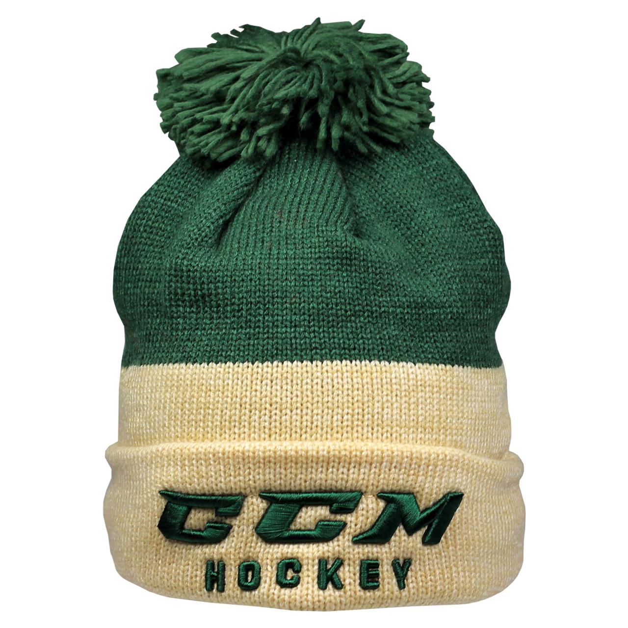 924193c45d6 CCM True 2 Hockey Knit Pom Winter Hat - Green