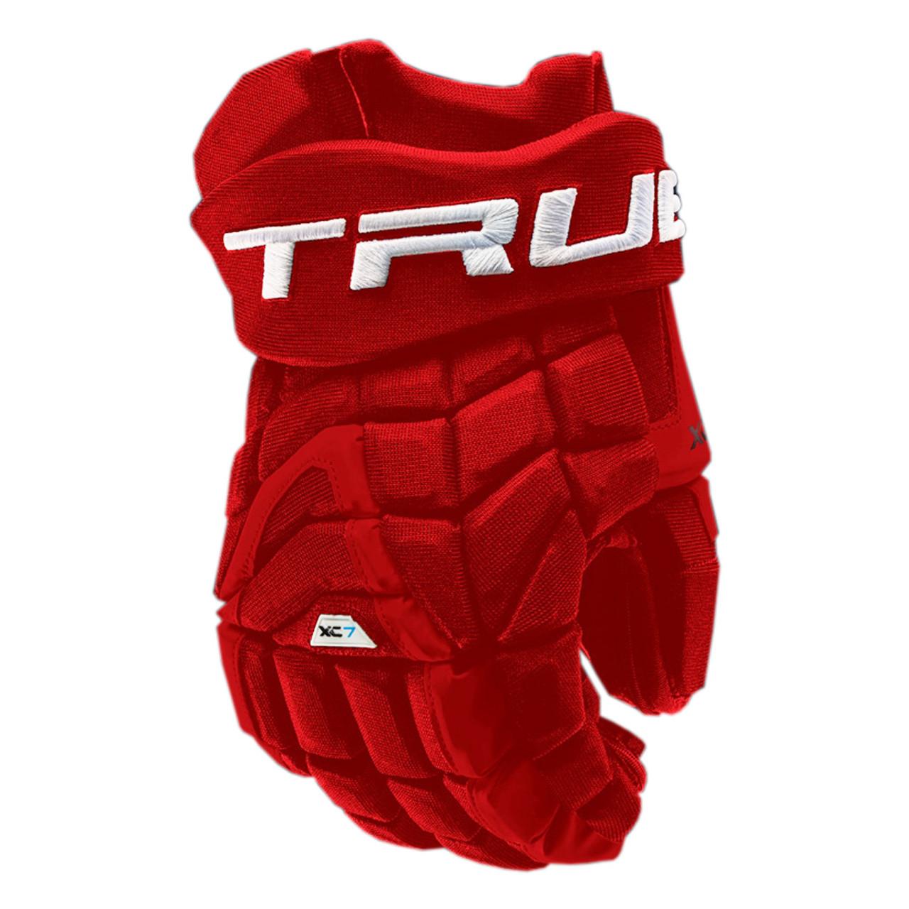 d9abd46611593 True XC7-18 Pro Z Palm Senior Hockey Gloves - Red