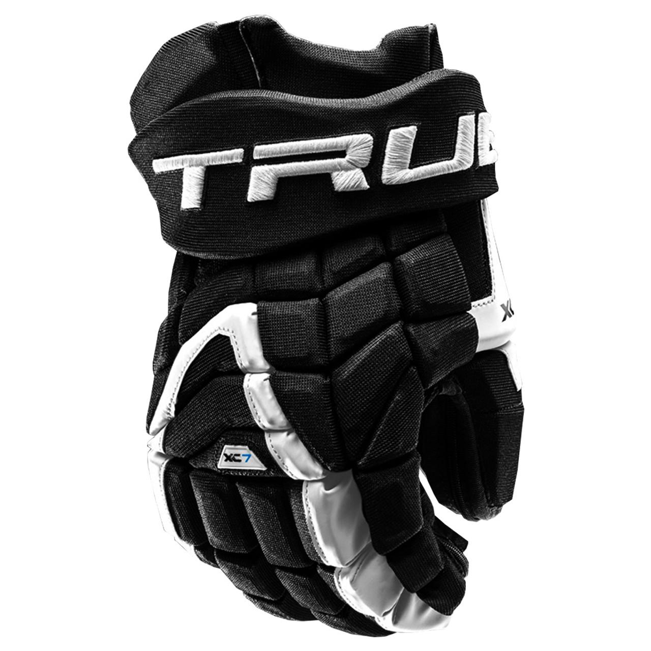 af5cc6e9f9f80 True XC7-18 Pro Z Palm Senior Hockey Gloves - Black, White
