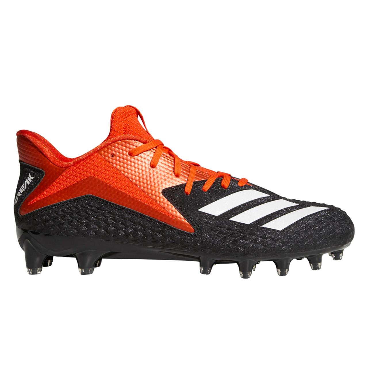 Orange and Black Football Cleats | Men