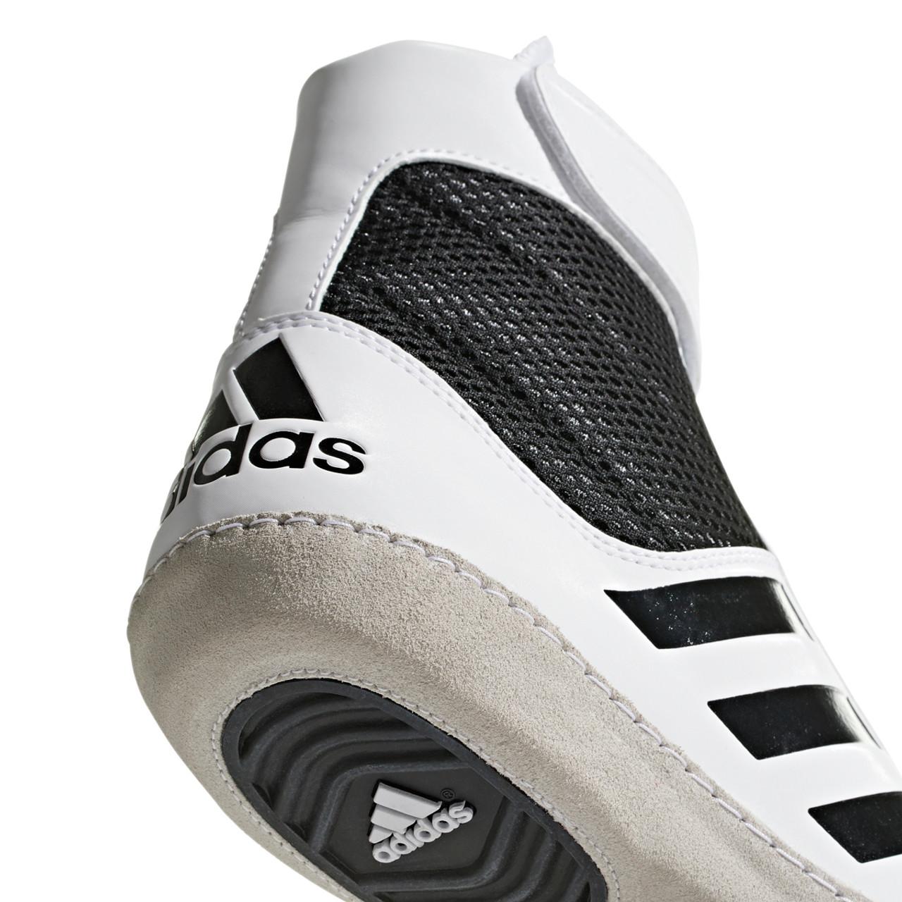 Adidas Combat Speed 5 Adult Wrestling Shoes AC7501 - White, Black