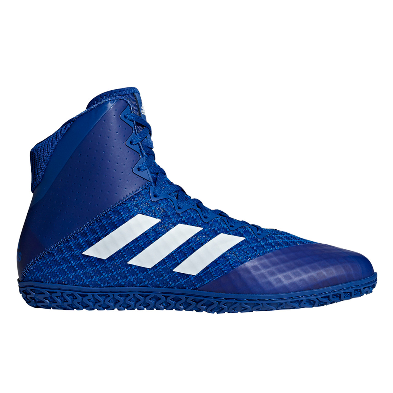 Adidas Mat Wizard 4 Adult Wrestling Shoes AC6973 - Royal, White