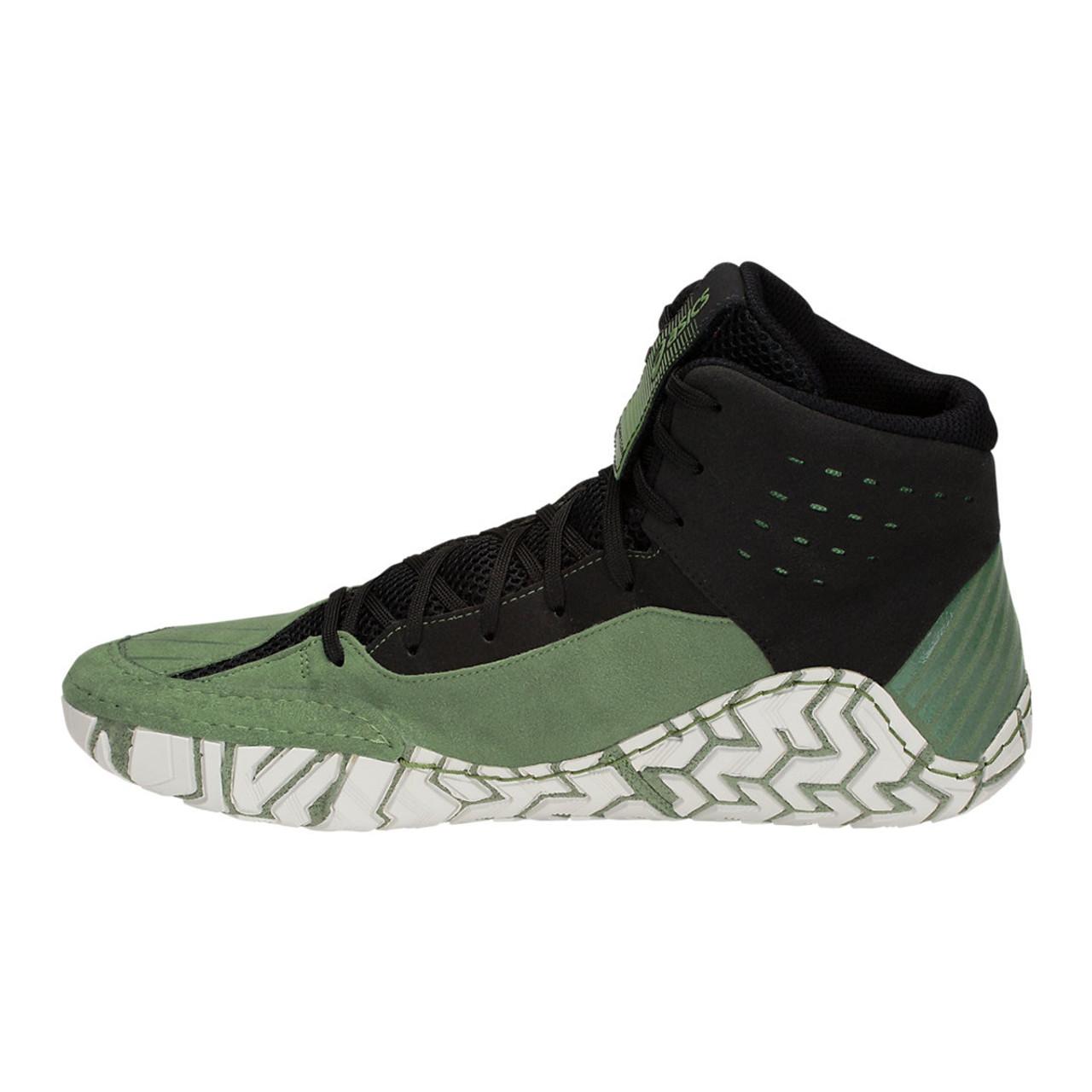 3050d9468326 Asics Aggressor 4 Men s Wrestling Shoes - Green