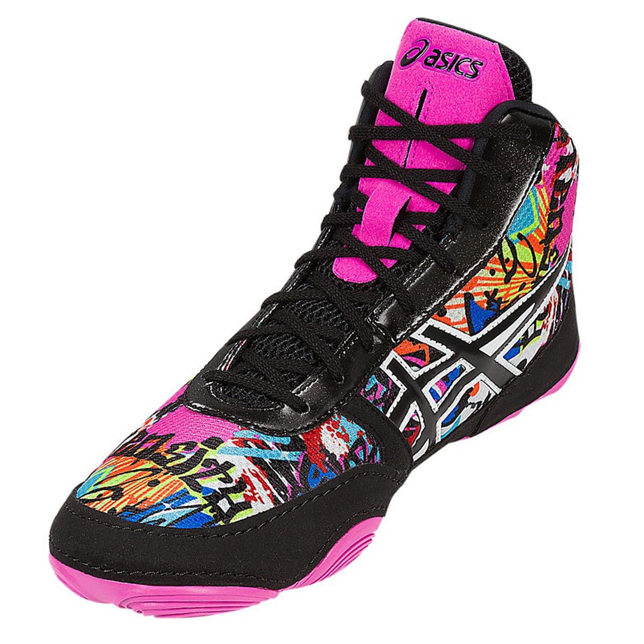567c514c060312 Asics JB Elite V2.0 Limited Edition Men s Wrestling Shoes - Graffiti ...