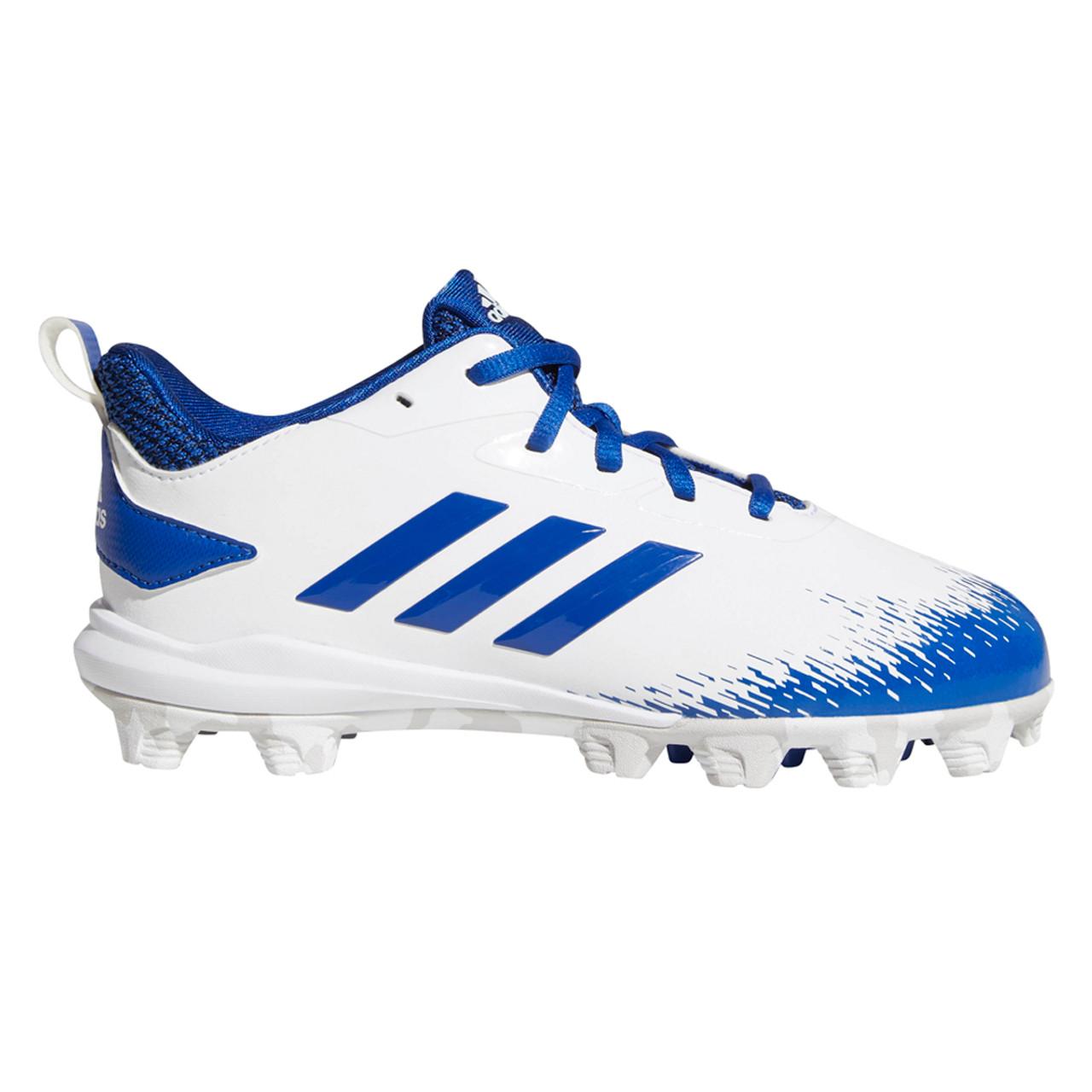 85c914cddec Adidas Adizero Afterburner V MD Youth Baseball Cleats CG5239 - White ...