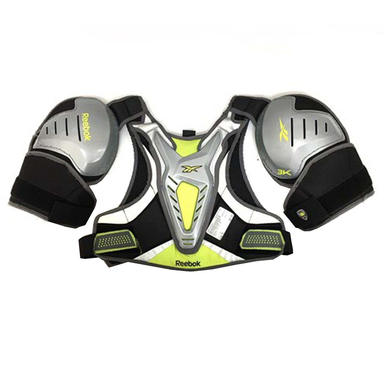 3K Lacrosse Shoulder Pads Black White X-Small