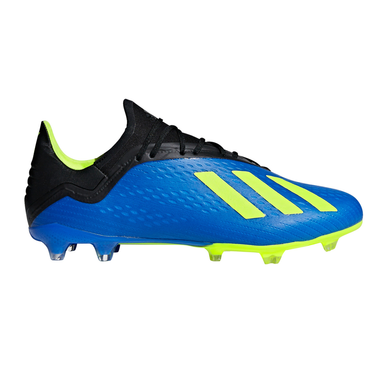 brand new c659a 5fc17 Adidas X 18.2 FG Men s Soccer Cleats DA9334 - Black, Blue, Lime