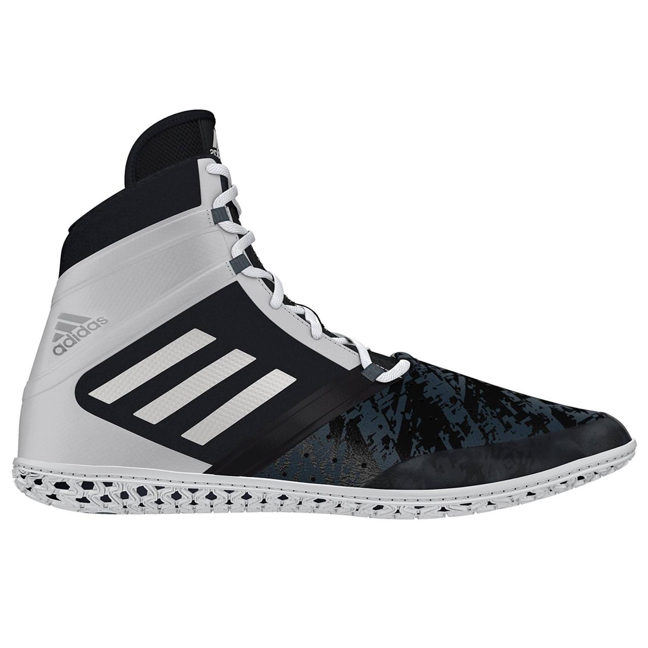 Adidas Impact Adult Wrestling Shoes AQ3317 - Black, White, Silver
