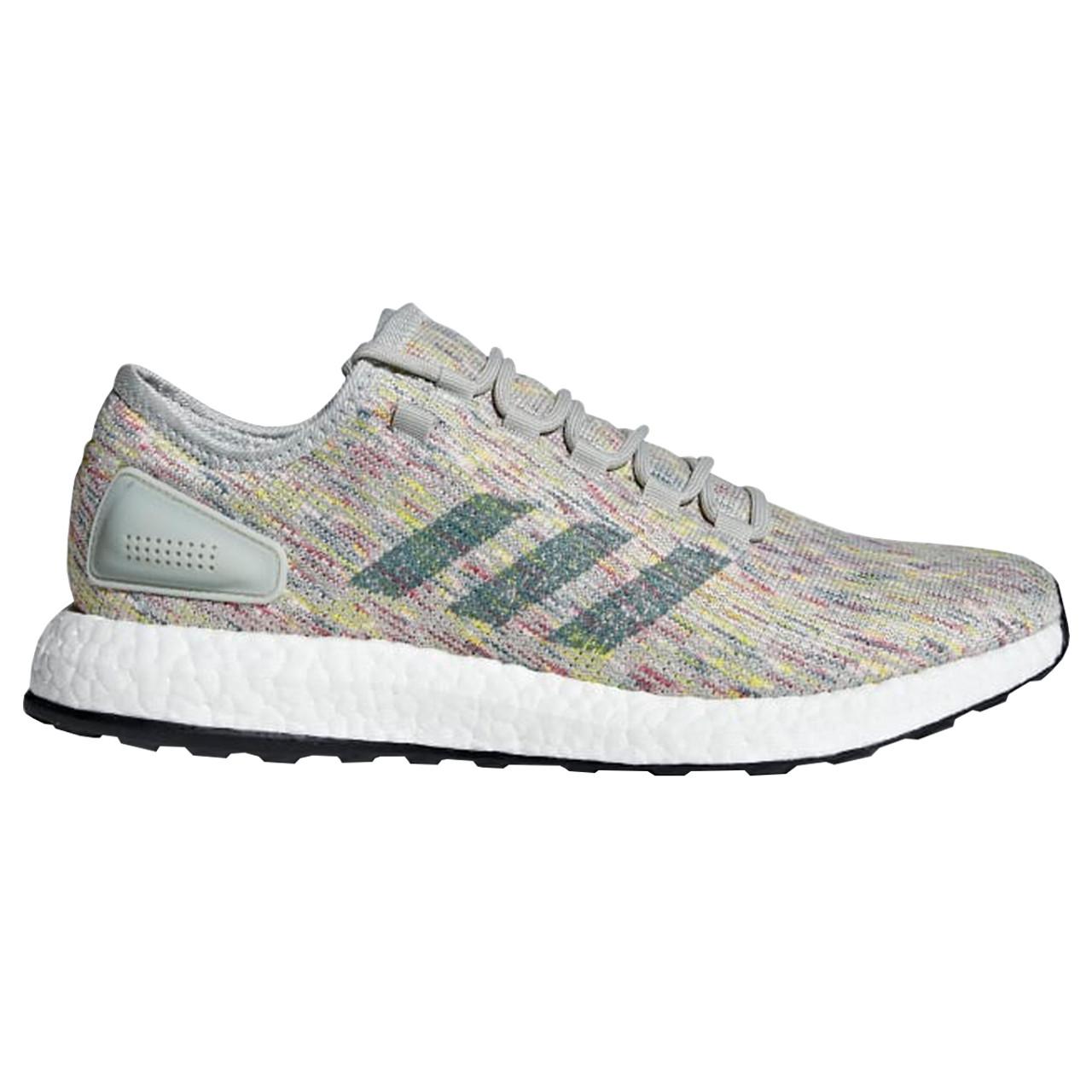 buy popular 86fc8 637d9 Adidas PureBOOST Men s Running Sneakers AQ0051 - Silver, Green, Yellow ...