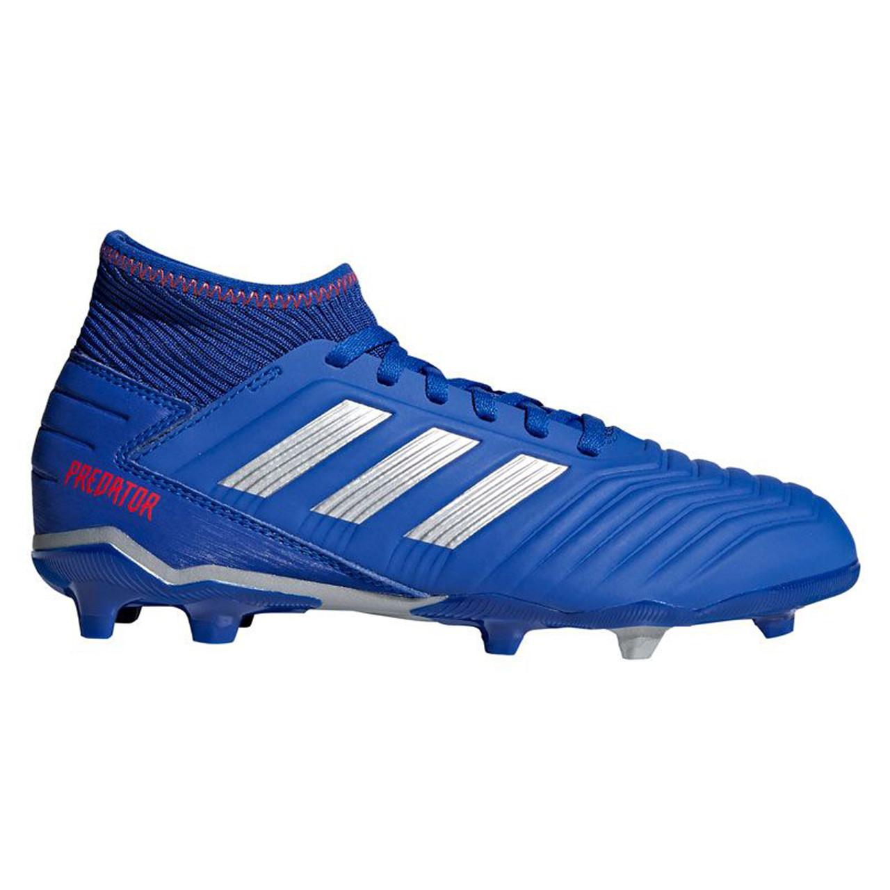 Adidas Predator 19.3 FG Junior Soccer Cleats CM8533 - Blue, Silver