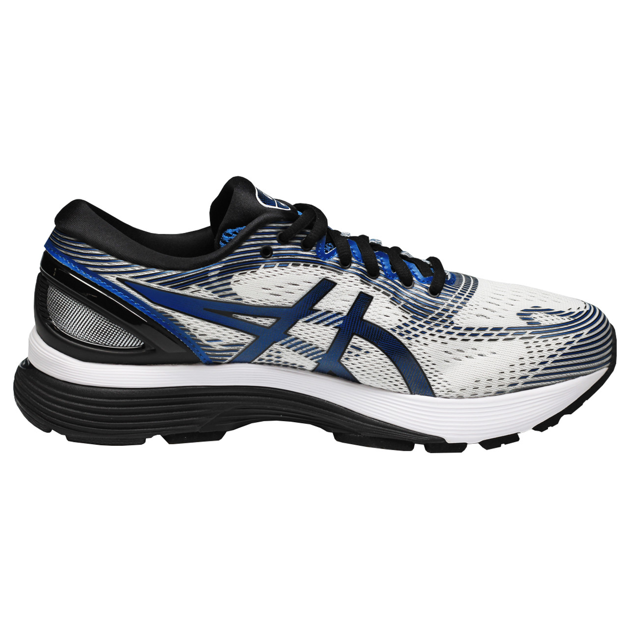 b4e146ea89 Asics Gel Nimbus 21 Men's Running Sneakers - White, Deep Sapphire