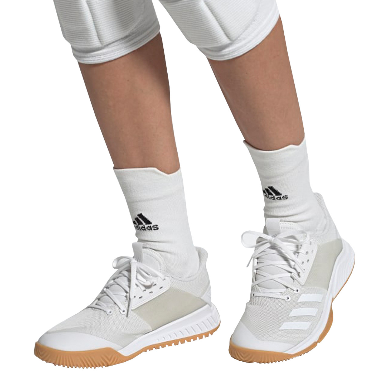 Adidas Crazyflight Team Women's Volleyball Shoes D97700 White, Gum