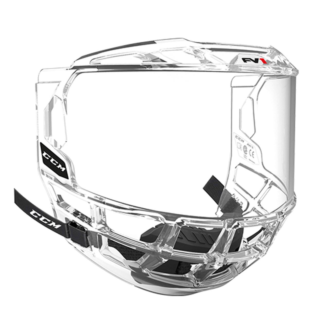 CCM FV1 Full-Face Hockey Helmet Visor - Clear