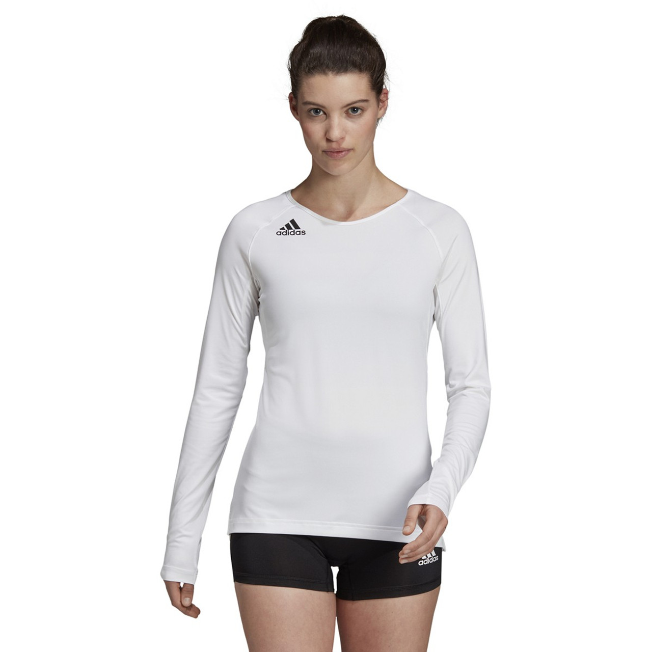 Adidas HILO Women's Long Sleeve Volleyball Jersey DX0888 - White