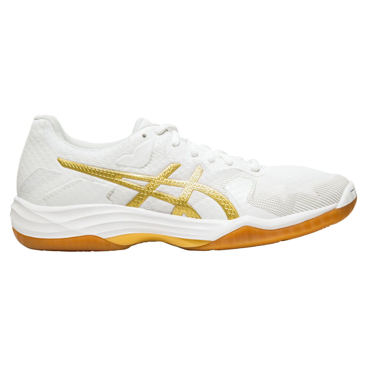Asics Gel Tactic Women's Volleyball Shoes White, Gold