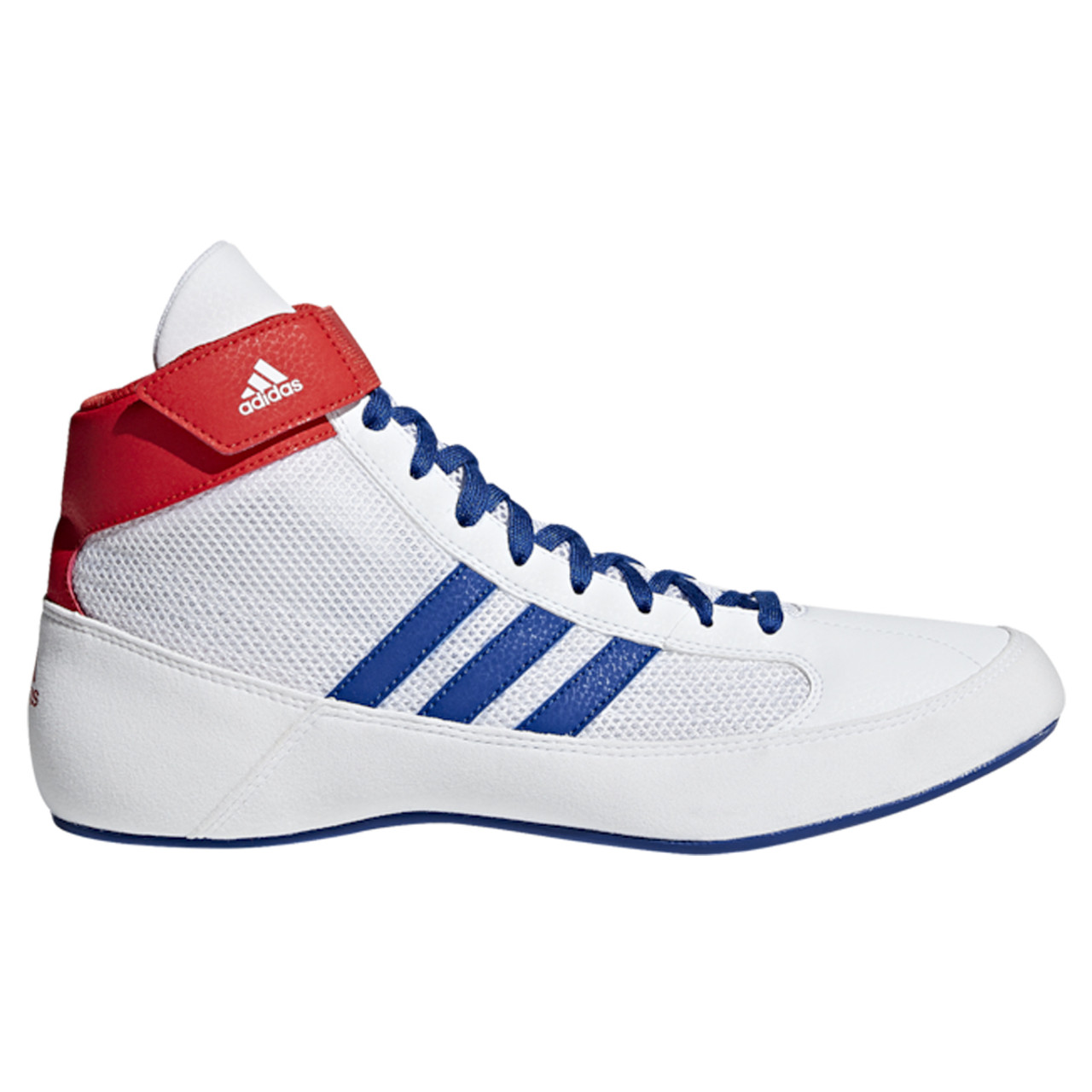 Adidas HVC 2 Adult Wrestling Shoes BD7129 White, Red, Blue