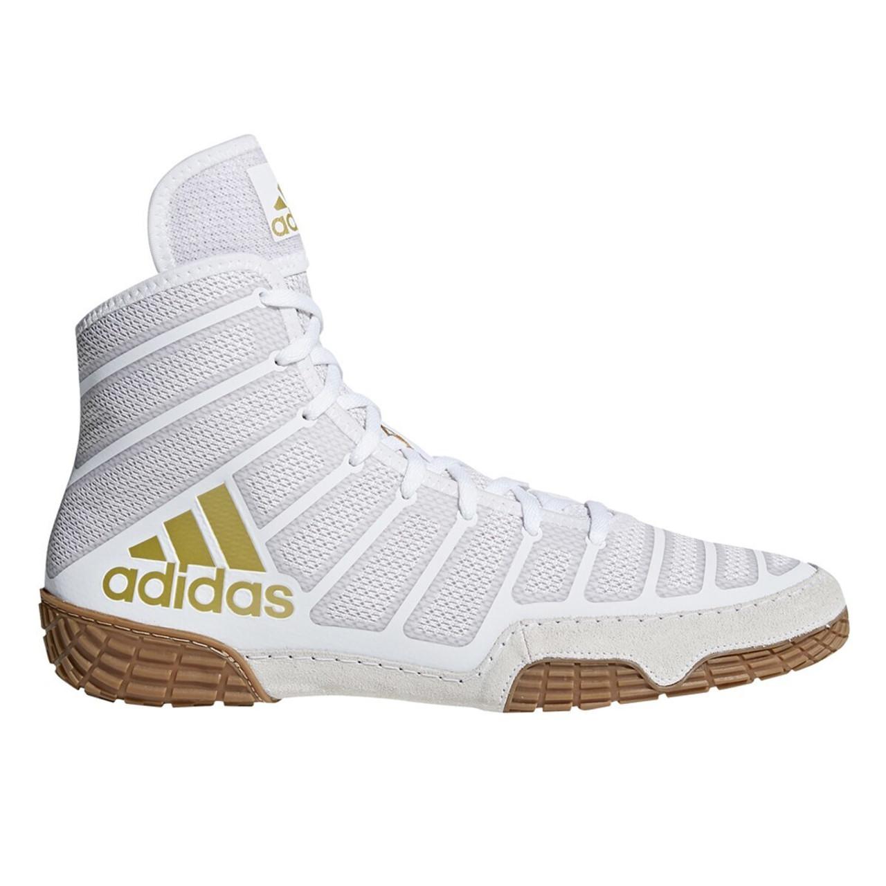 silbar galope blanco lechoso  Adidas Adizero Varner Adult Wrestling Shoes DA9891 - White, Gold