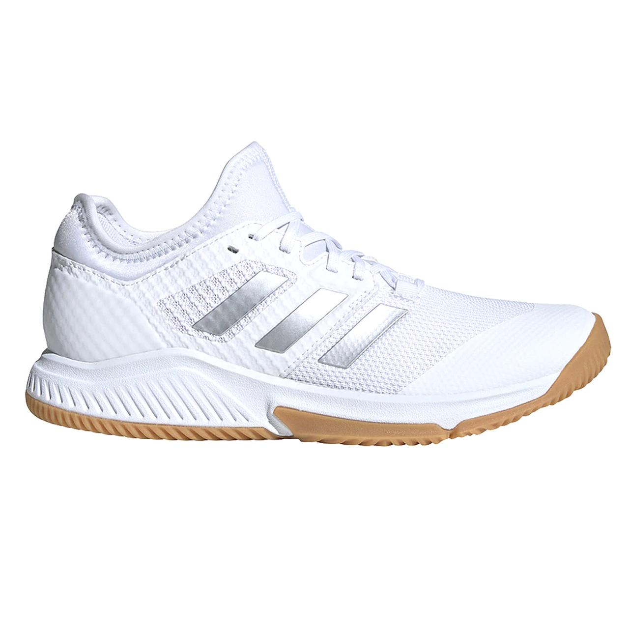 Adidas Court Team Bounce Women's Volleyball Shoes EH2602 - White, Silver