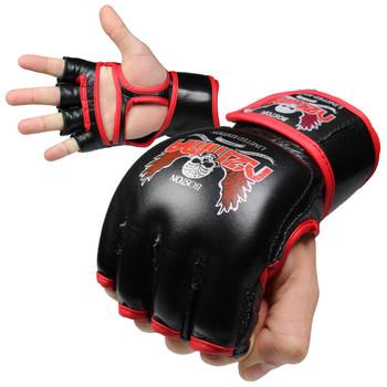 Nzmma Custom Limited Edition MMA Training Gloves - Black, Red