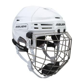 Bauer RE-AKT 75 Hockey Helmet with Cage - White