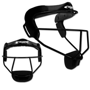 Champro The Grill Softball Fielders Mask Adult - Black