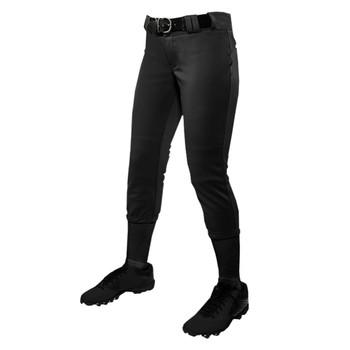 Champro Traditional Low Rise Women's Softball Pants - Black