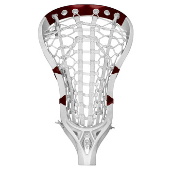 Brine A2 Girls Strung Lacrosse Head - White, Red