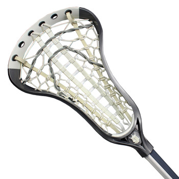 Brine Dynasty Elite Women's Full Lacrosse Stick - Silver, White